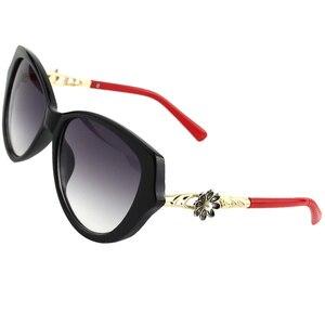 Image 5 - Zonnebril Vrouwen Charmante Vintage Elegante Bloem Versieren Dames Zonnebril Luxe Vrouwelijke Sexy Meisje Brillen