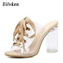 Eilyken 2020 New Sexy PVC Transparent Gladiator Sandals Peep