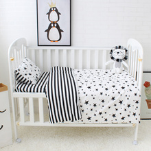 5 Pcs Baby Bedding Set Cute Pattern Cotton Cot Bedding Set For Children Including Baby Bed Sheet Quilt Pillow With Filler