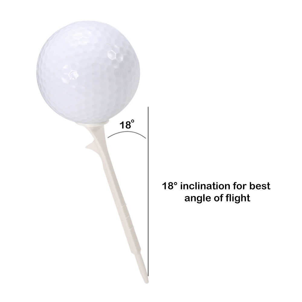 5 PCS Golf Tees Plastic Step Up Golf Tees Cushion Top Ball Holder Tool Easy Insert 18 Degree Inclination Golf Accessories