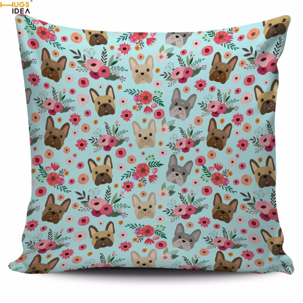 Bettwäsche Dog Side Home Altra Soft Cushion Linen Printed Pillow Office Pillow