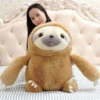 70cm 27 Inch Big Plush Gray Zootopia Sloth Large Stuffed Animals Soft Plush Toy Doll