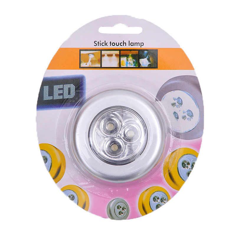 Armario Led lámpara inalámbrico de la batería Led de luz de la noche Stick grifo táctil a palo en cualquier lugar de la escalera de mostradores 1/3/6/7led lámparas