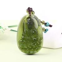 8 Natural Czech Moldavite Green Aerolites Carved Buddha Lucky Amulet Pendant Crystal Energy Apotropaic Free Rope