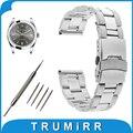 18mm 20mm 22mm correa de reloj venda de reloj de acero inoxidable para rolex reemplazo de la correa de seguridad hebilla de pulsera pulsera de la correa negro plata