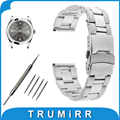 18mm 20mm 22mm faixa de relógio de aço inoxidável para rolex pulseira fivela de segurança substituição alça de pulso pulseira cinto preto prata