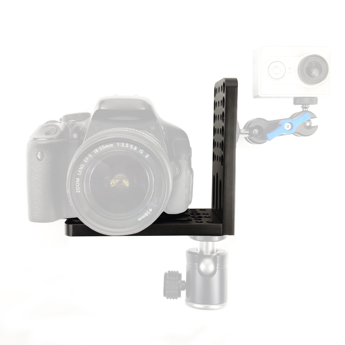 L Plate Bracket Vertical Shoot for Video Camera Tripod 1/4 3/8 Screw Holes for Zhiyun Feiyu For Canon EOS 6D 7D 5D Mark II/III