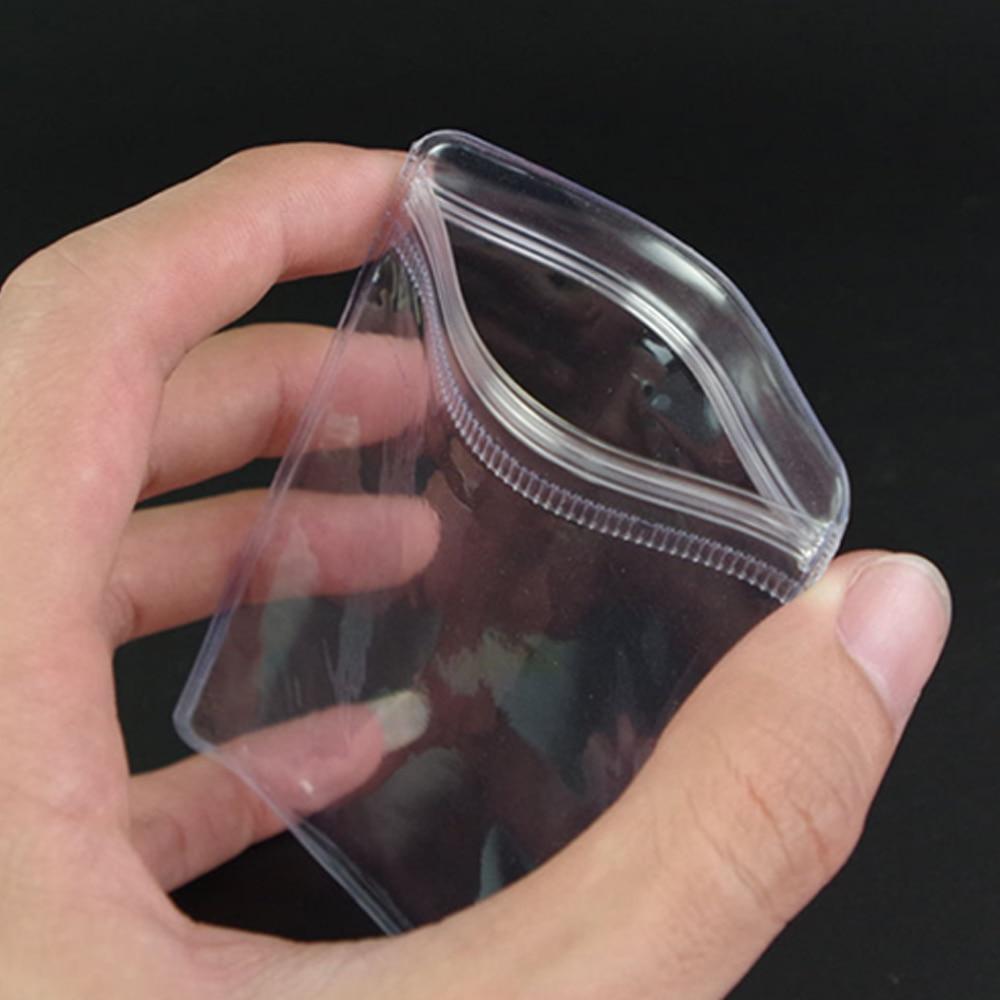 100Pcs / Lot 4 * 6cm Clear PVC Self Seal Zipper Plastični Pakiranje - Organizacija i skladištenje u kući