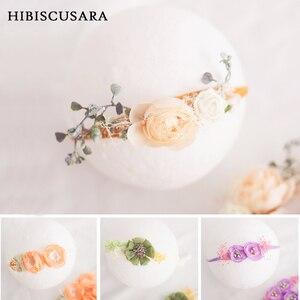 Baby Girl Elastic Flower Headbands Princess Infant Photography Accessories Hand Made Newborn Bebe Headwear Photo Props(China)