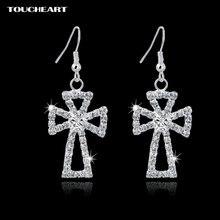 Toucheart очаровательные серебряные цветные свадебные серьги