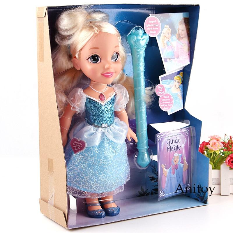 Princesse jouet cendrillon avec lumière et son PVC figurine mobile jouets d'action pour les enfants