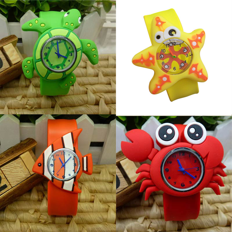 New Cute Animal Cartoon Silicone Band Bracelet Wristband Watch For Babies Kids  TT@88 cute love heart hollow out bracelet watch for women