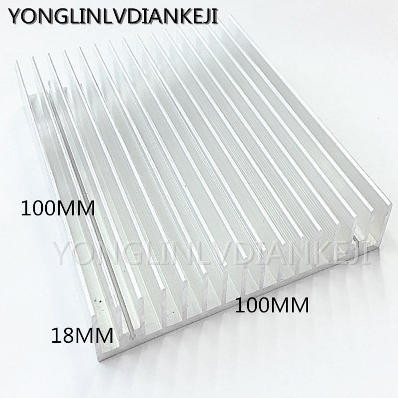 2PCS Heatsinks 100*18-100mm Aluminum Heatsink/Electronic Radiator/