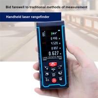 SNDWAY Laser Rangefinder Digital Measure Tape Range Finder Distance Meter Roulette trena Multi direction Electronic Level Bubble