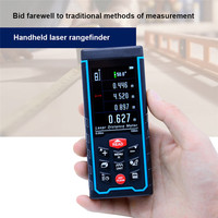 SNDWAY Laser Rangefinder Digital Measure Tape Range Finder Distance Meter Roulette trena Multi direction Electronic Level Bubble