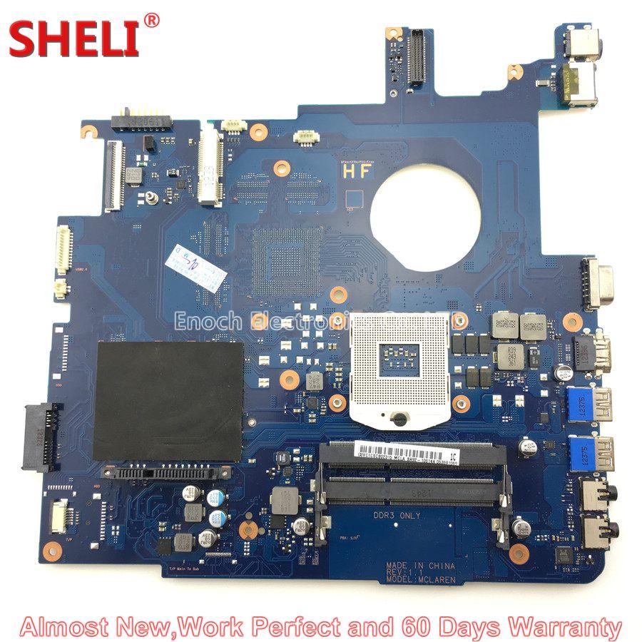 SHELI BA92-10614A BA92-10614B Laptop Motherboard For Samsung 550P5C NP550P5C MCLAREN BA41-01900A DDR3 Main Board System Board