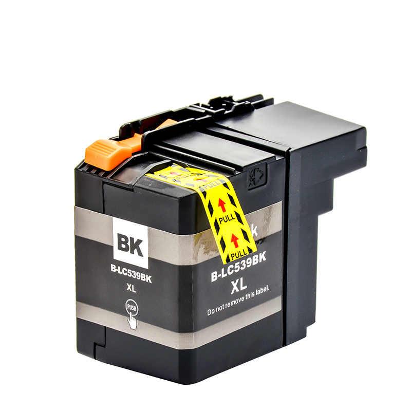 4PK LC535XL LC539XL Tam Mürekkep Kartuşu Için Uyumlu DCP-J100 DCP-J105 MFC-J200 Yazıcı
