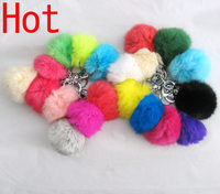 Free Shipping Colors Real Fur Ball For Keychain Or Decoration Gift
