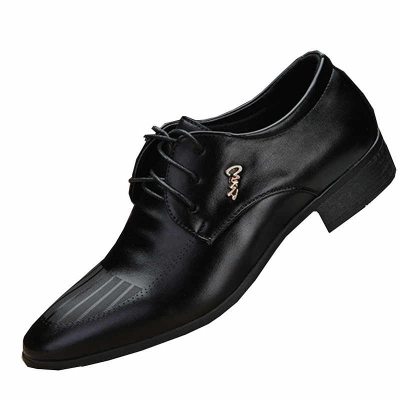 70980160756 Detail Feedback Questions about new Men s Quality Shoes Zapatos de hombre Black  Leather Soft Man Dress ShoesBusiness wedding office dance shoes casual shoes  ...