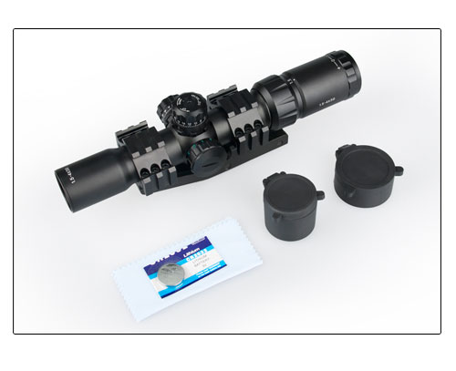 все цены на Tactical Rifle Scope 1.5-4X30 Rifle Scope Red / Green / Blue Illuminated for Hunting gs1-0246 онлайн