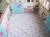 Promoción! 7 unids sistema del lecho del bebé bordado 3D pájaro elefante cuna lecho, incluyen ( parachoques + funda de edredón + cubierta de cama falda de la cama )