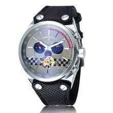 Los hombres de Moda Casual relojes de pulsera reloj automático esqueleto mecánico relojes deportes de Las Fases de la Luna Ahueca Hacia fuera el envío libre del reloj