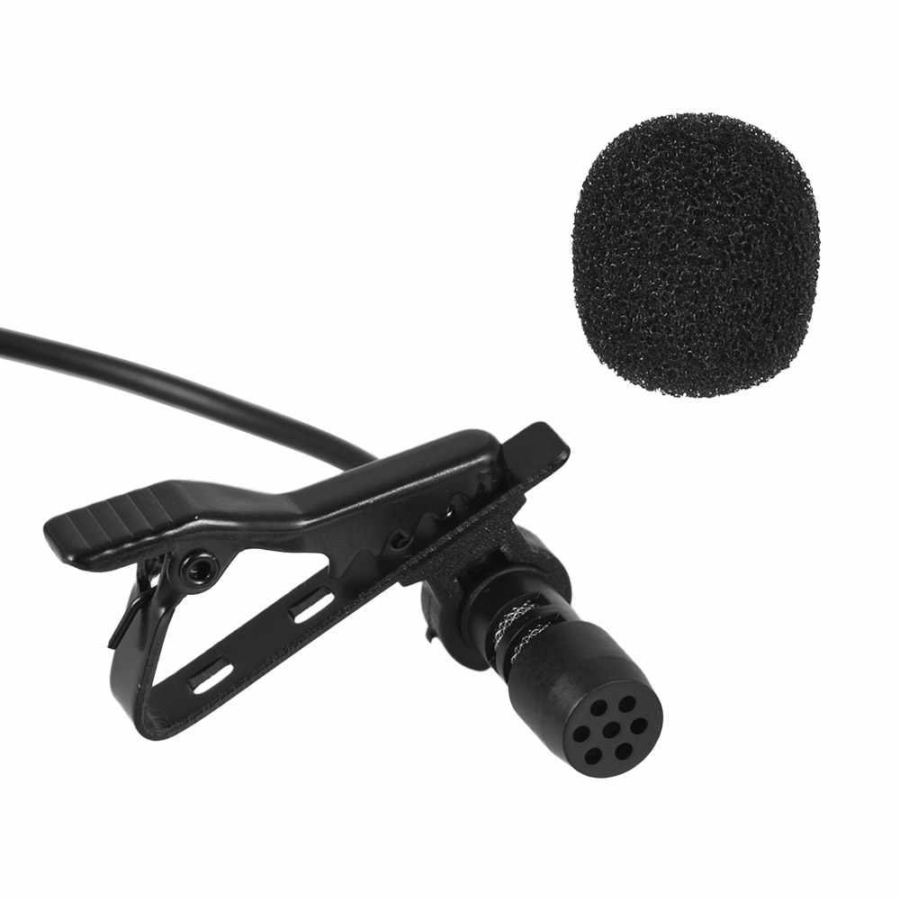 Andoer 1.45 M Mini Portable Mikrofon Kondensor Clip-On Lapel Lavalier MIC Kabel Mikrofo/Microfon untuk Ponsel untuk laptop