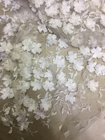 Light Blue Chiffon Rosette Lace Fabrics, Wedding decors, photography backdrop, on sale