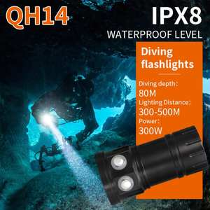 2018 HOT 80m LED Diving Flashlight Photography Light Underwater IPX8 Waterproof Torch Lamp AP30