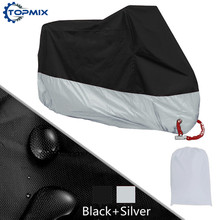 L XL 2XL 3XL 4XL 190T Black+Silver Motorcycle Cover UV Protector Waterproof Rain Dustproof Anti-theft Moto Cover with Lock Holes