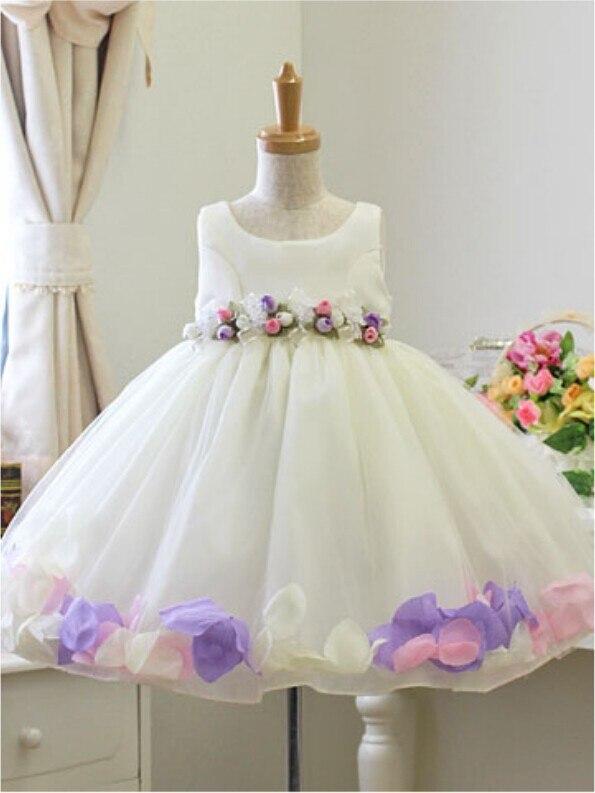 Girl party dress wedding,Flower girl dresses Children wedding party dress baby kids girls' child rose petal age 2-8 years