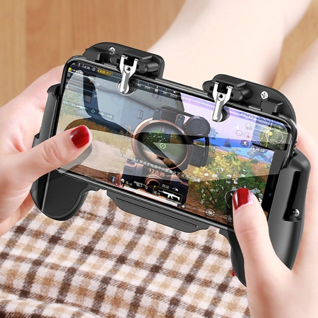 Trigger L1R1 Shooter Mobile Phone Gamepad PUBG Game Fire Button Aim Key Game Pad Controller Holder w/without Cooler Cooling Fan