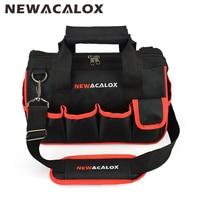 NEWACALOX 12 Tool Bags Large Capacity Thicken Hardware Professional Repair Tools Bag 600D Close Top Wide