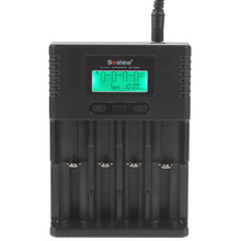 Soshine H4 Li-Ion NiCd NiMH ЖК-дисплей интеллектуальный цифровой 4-слот Батарея Зарядное устройство с ЕС/США адаптер 100- 240 В с автомобиля Зарядное устройство