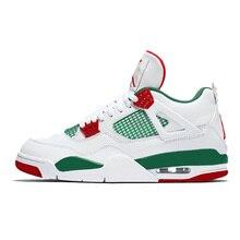 100% authentic bf32b ca4bd Jordan Retro Homens Alternate Basketball Shoes NRG 4 Motorsport Preto Gato  Branco Cimento bred Tênis Esportivos