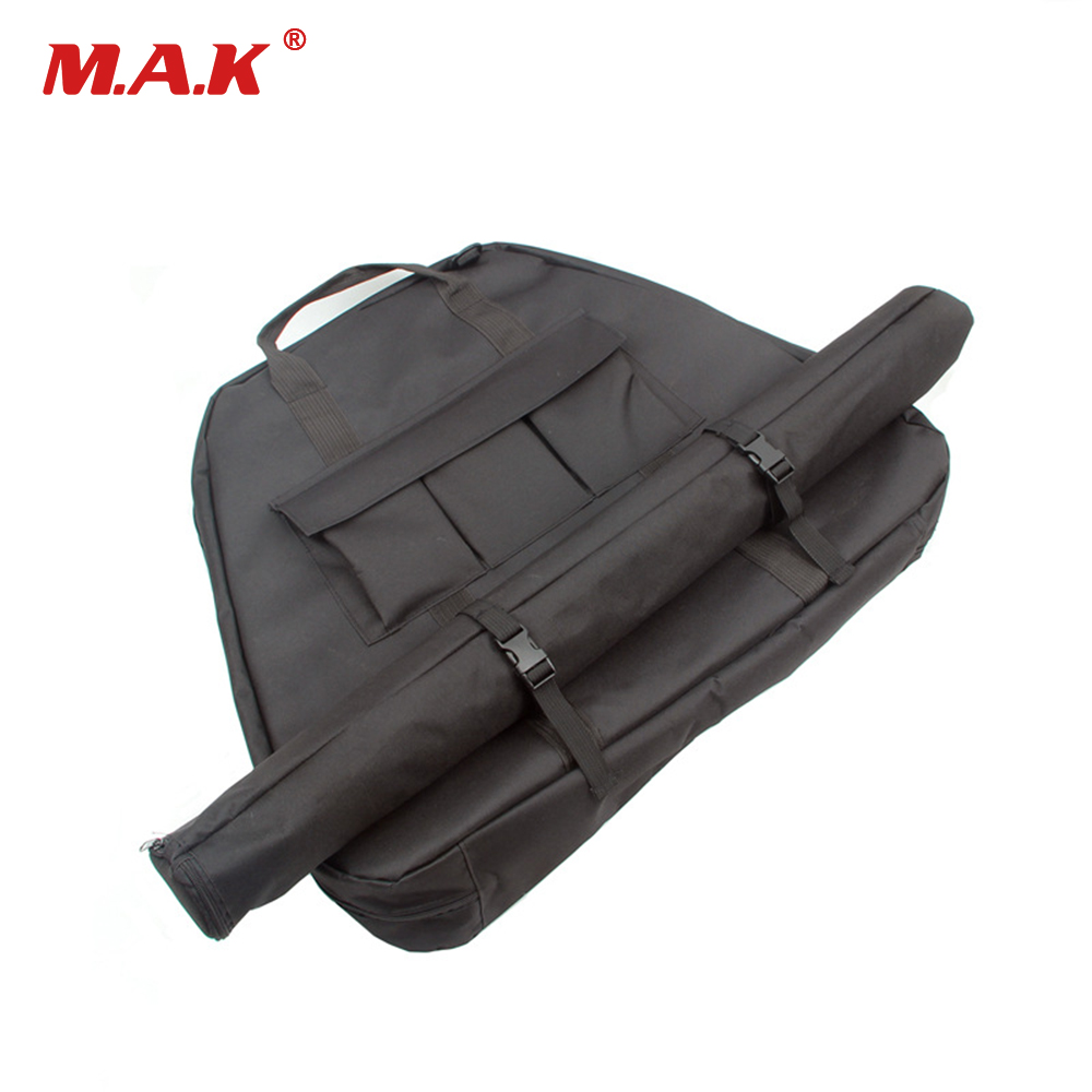 Compound Bow Hunting for Outdoor Hunting Shooting Accessories Archery Bow Case Deluxe Black Canvas Bow Arrow Portable Bag