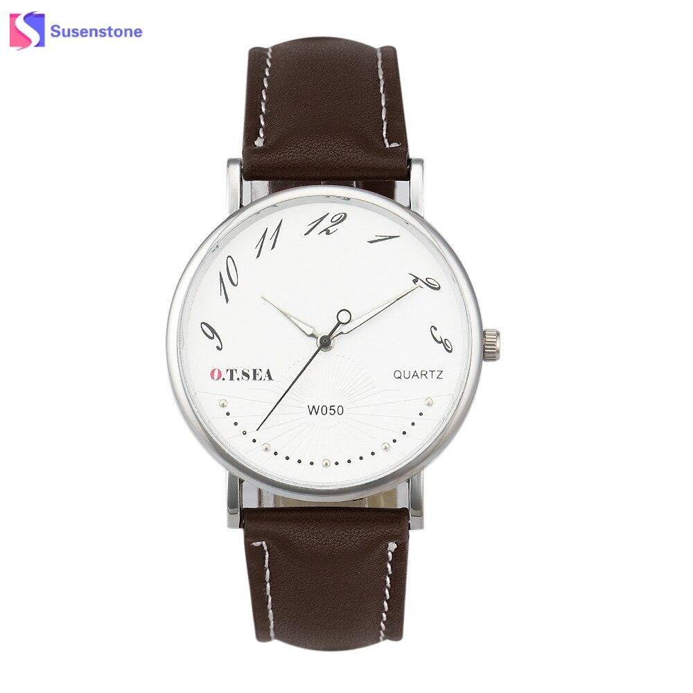 b0ae905f0c4 Homens Relógio De Luxo De moda de Nova Projetado PU Pulseira de Couro  Relógio de Quartzo Analógico Casual Relógios de Pulso Dos Homens Relógio  relogio ...
