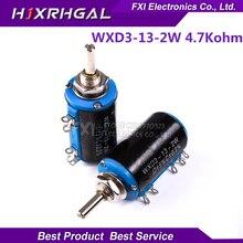 2PCS WXD3-13-2W 4.7K ohm 4K7 WXD3-13 2W Rotary side Rotary Multiturn Wirewound Potentiometer