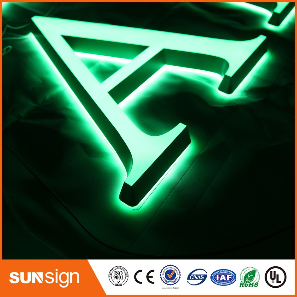 Alibaba-express Storefront Advertising Decoration LED Acrylic Letters Signs