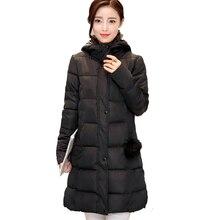 2017 новый женщины зимняя куртка с капюшоном длинные молнии тонкий теплое пальто женский основной проложенный молнии хлопок длинные мода парки