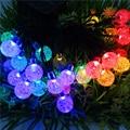 20 LEDs 4.8 m Multi Color de la Secuencia Solar Luces de la Lámpara de La Bola de la Decoración Al Aire Libre