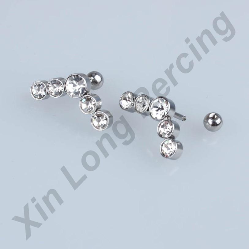 316L Surgical Steel Ear Studs Cartilage Earrings Tragus Helix Piercing 16 Gauges Ear Studs Lip Rings Jewelry