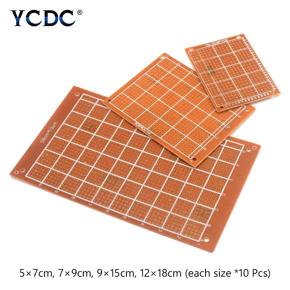 Prototype de carte PCB pour bricolage électronique 40 pièces 4 tailles mélange