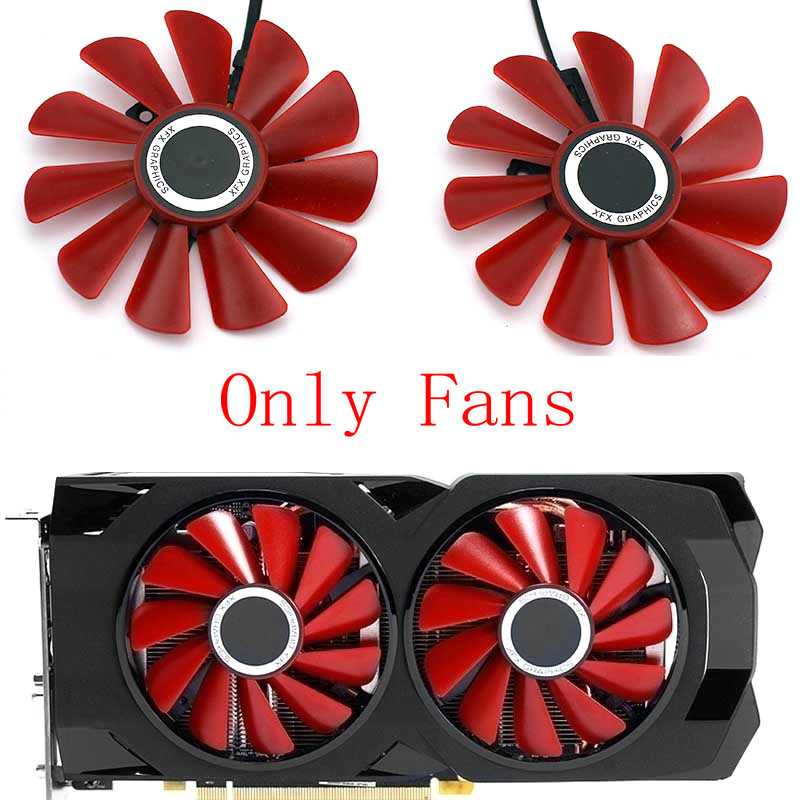 Original for XFX <font><b>RX</b></font> 570 <font><b>580</b></font> Video Graphics card cooling fan Only fans Not card. image