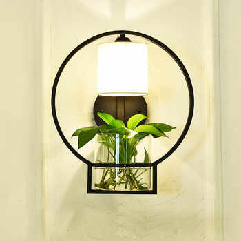 Nordic Hydroponics Succulent Plants Flower Pot with Wall Lamp for Living Room Beside Light Corridor Sconce Wall Light Wall Art - DISCOUNT ITEM  30 OFF Lights & Lighting