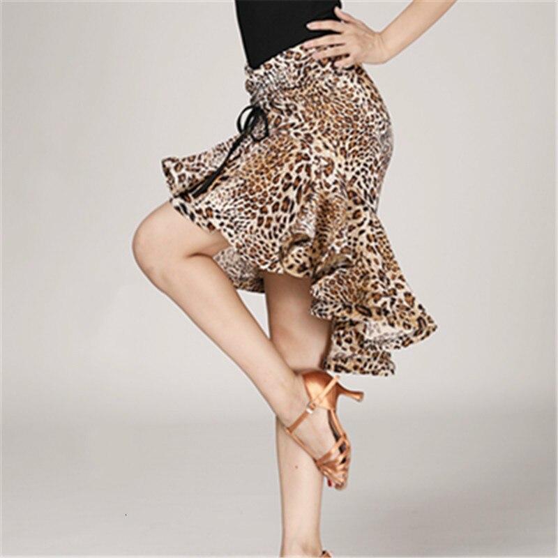 Latina fishtail saia para adultos do sexo feminino prática latina desempenho trajes de dança meia comprimento saia impressão sexy topos feminino dança