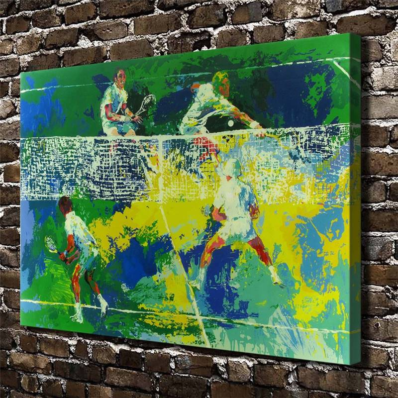 Leroy Neiman Abstract Tennis Match.Hd Canvas Print Home Decoration Living Room Bedroom Wall Pictures Art Painting drop shipping