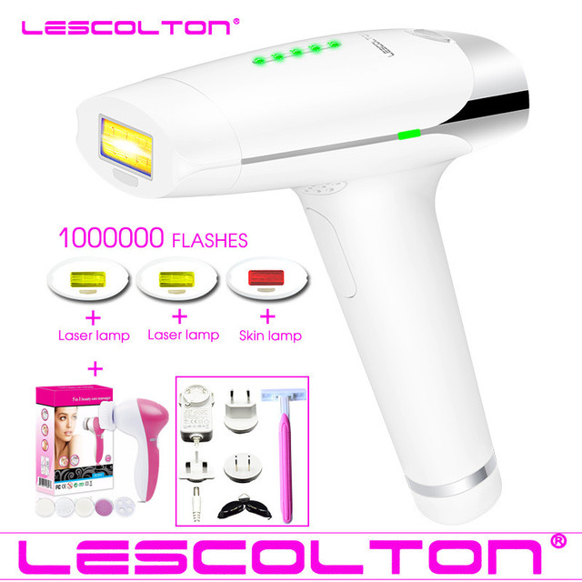Lescolton 4in1 1000000 pulsed IPL Laser Hair Removal Device Permanent Hair Removal IPL laser Epilator Hair Removal machine