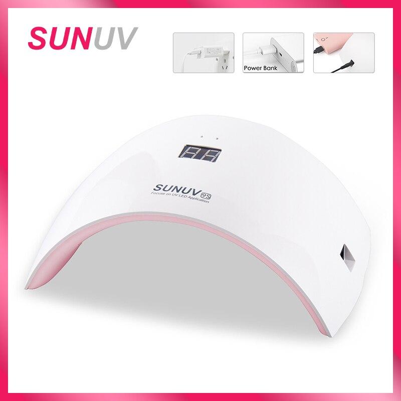 SUNUV SUN9s Nagel Lampe 24 W UV LED Licht Nagel Trockner mit USB Ladekabel Professionelle Maniküre Lampe Für Finger und Zehennägel