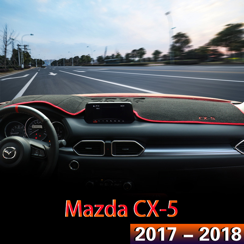 1x For <font><b>MAZDA</b></font> <font><b>CX</b></font>-<font><b>5</b></font> CX5 <font><b>CX</b></font> <font><b>5</b></font> 2017 <font><b>2018</b></font> Car <font><b>Interior</b></font> <font><b>Accessories</b></font> Auto Dashboard Cover Dash Mat Avoid Light Pad Protector Sunshield image